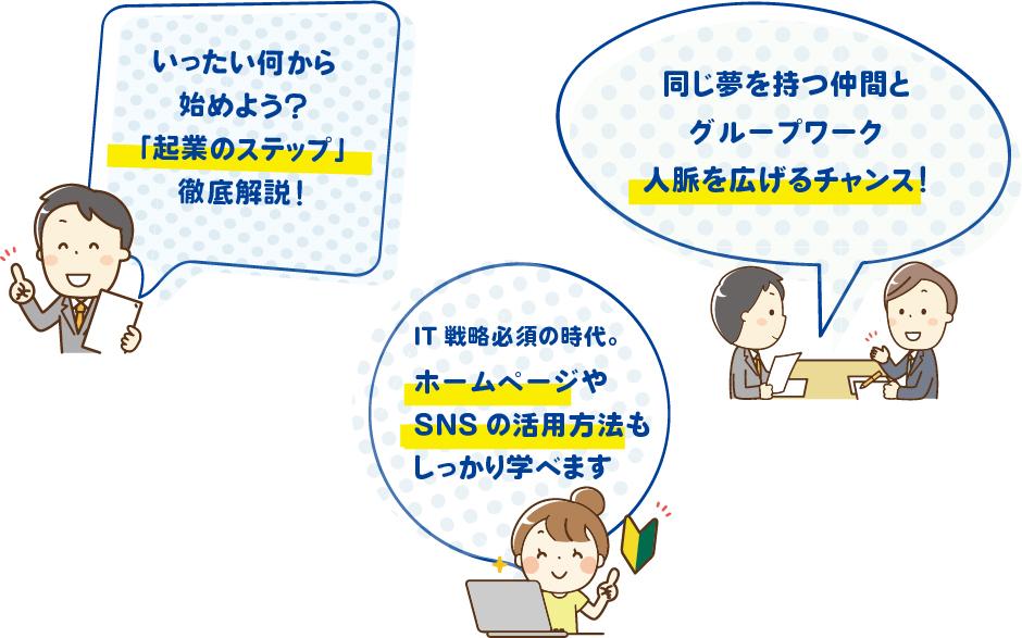 あま津島創業スクールのポイント
